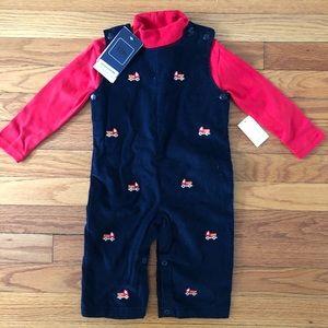 NWT Baby Luigi Firetruck Overalls